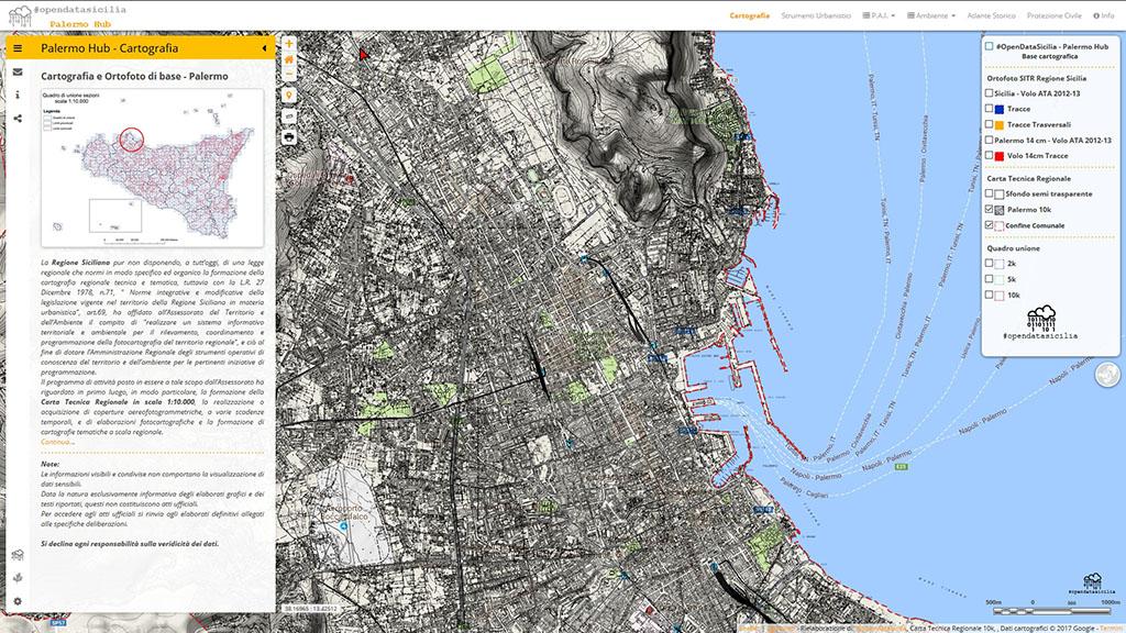 Cartina Italia Dwg.Cartografia E Ortofoto Di Base Palermo Hub